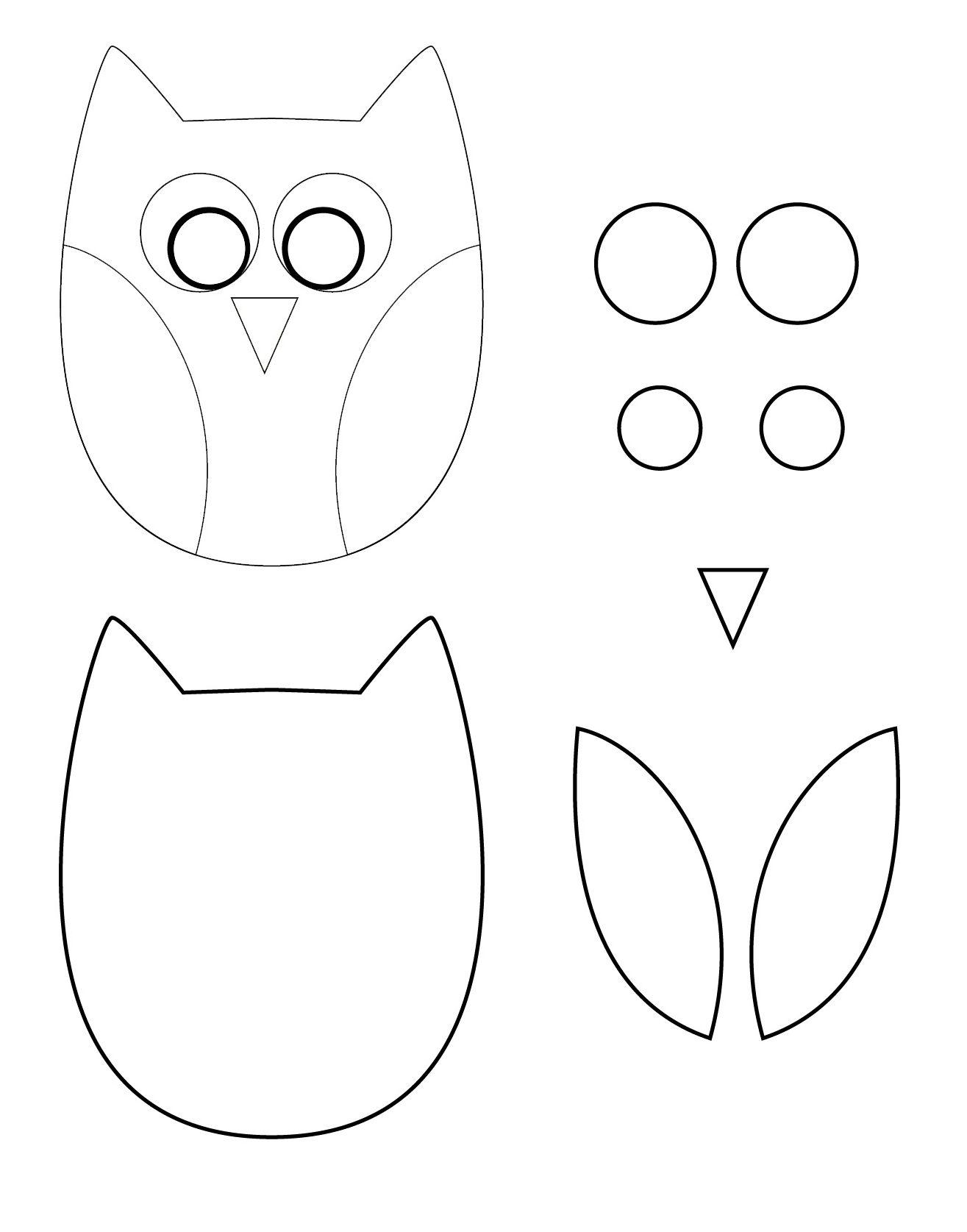 Рисунок совы для поделки 25