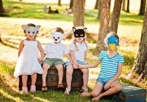 Сценка с масками для детей «Лесной праздник»