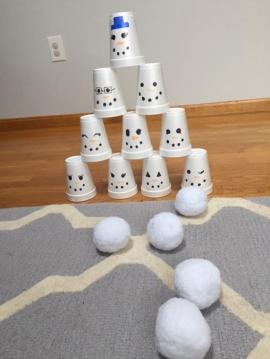 Разбей башню снеговиков